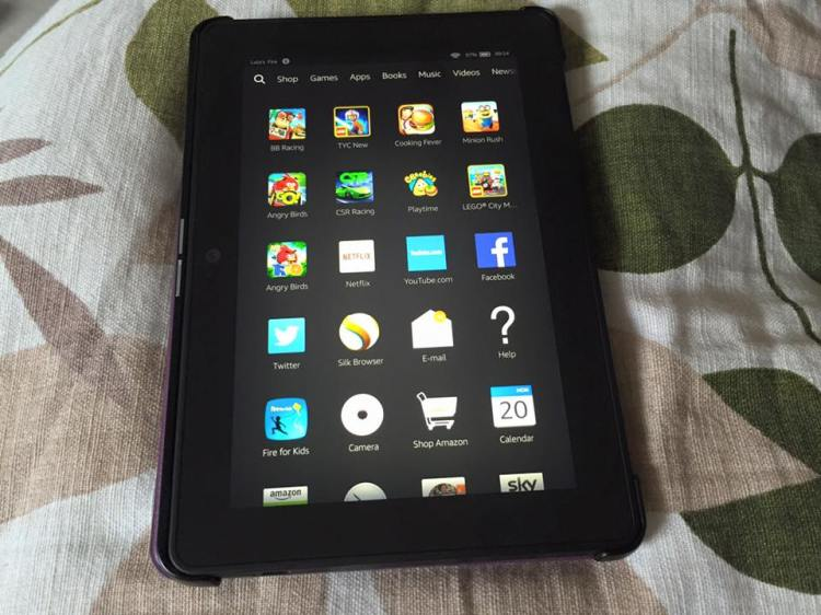 Kindle fire homescreen
