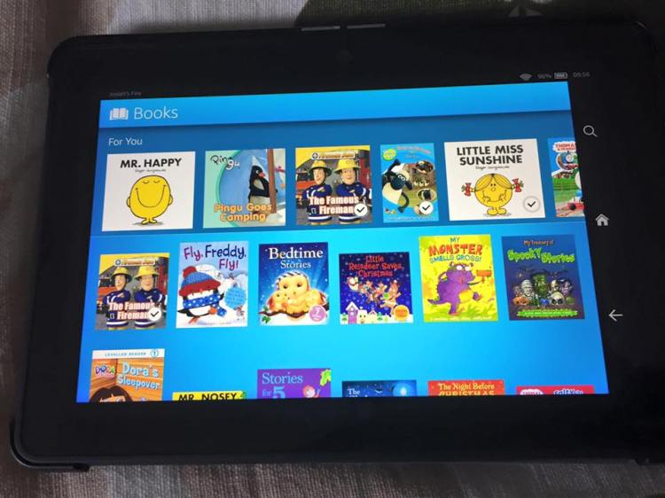 Fire kids unlimited books (personalised for my 4 year old)