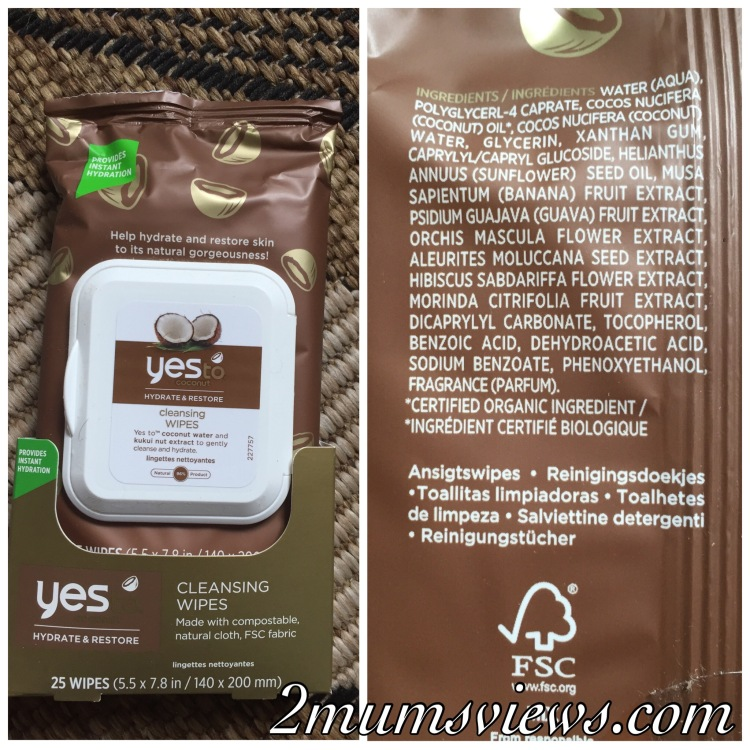 Yes To Coconuts Hydrate & Restore Cleansing Wipes
