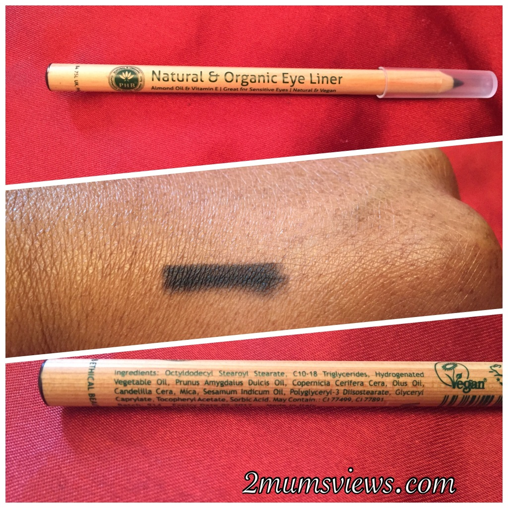 PHB Ethical Beauty, Natural Organic Pencil Eyeliner in Black