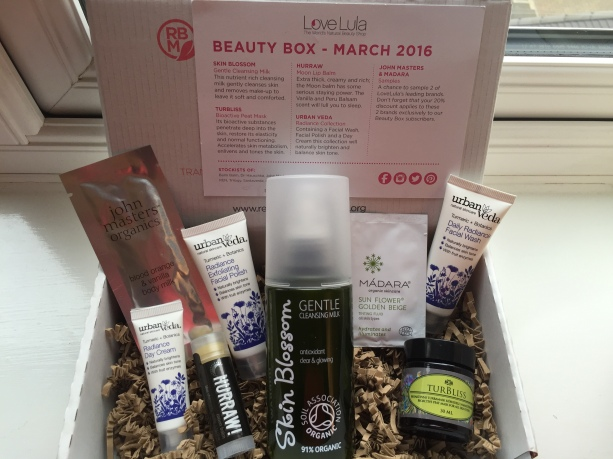 LoveLula beauty box March 2016