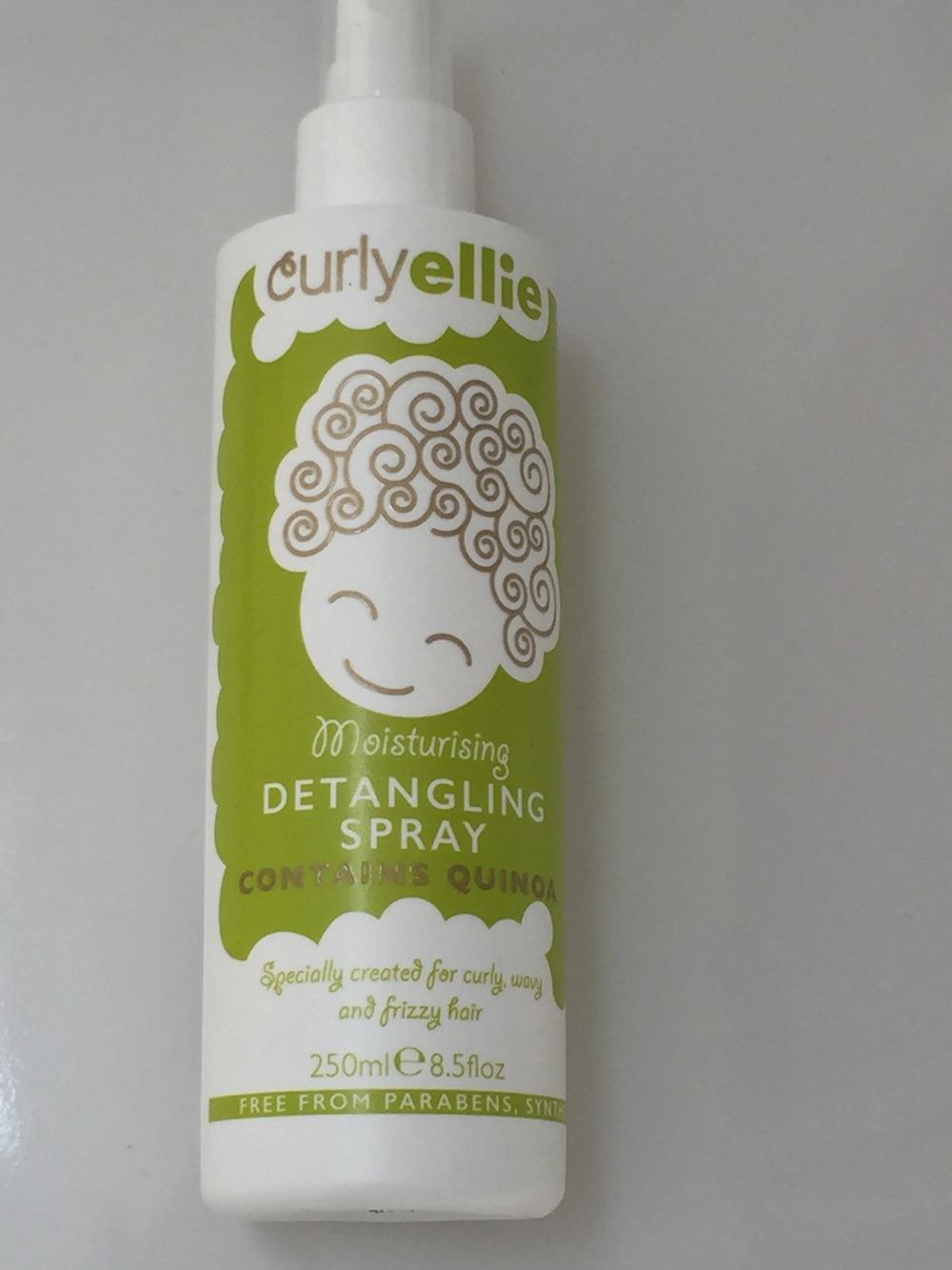 curlyellie moisturising detangling spray