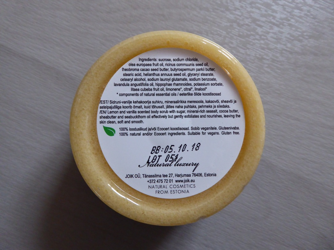Joik body scrub