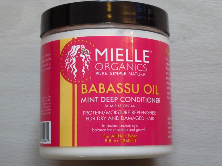 Mielle Organis Babassu oil mint deep conditioner