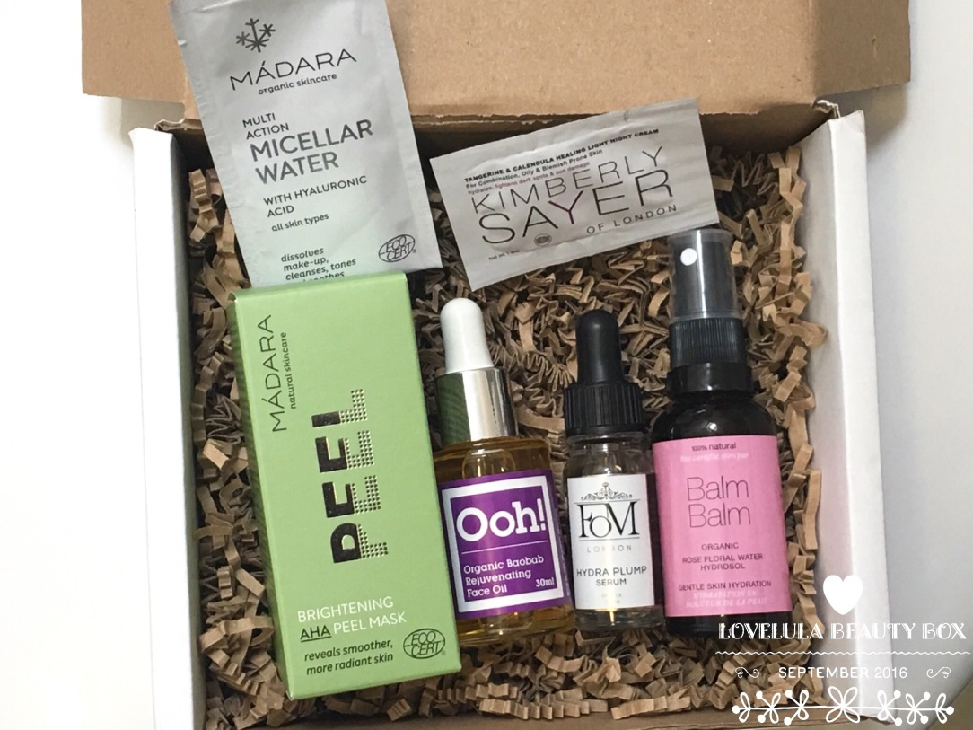 LoveLula Beauty Box September 2016