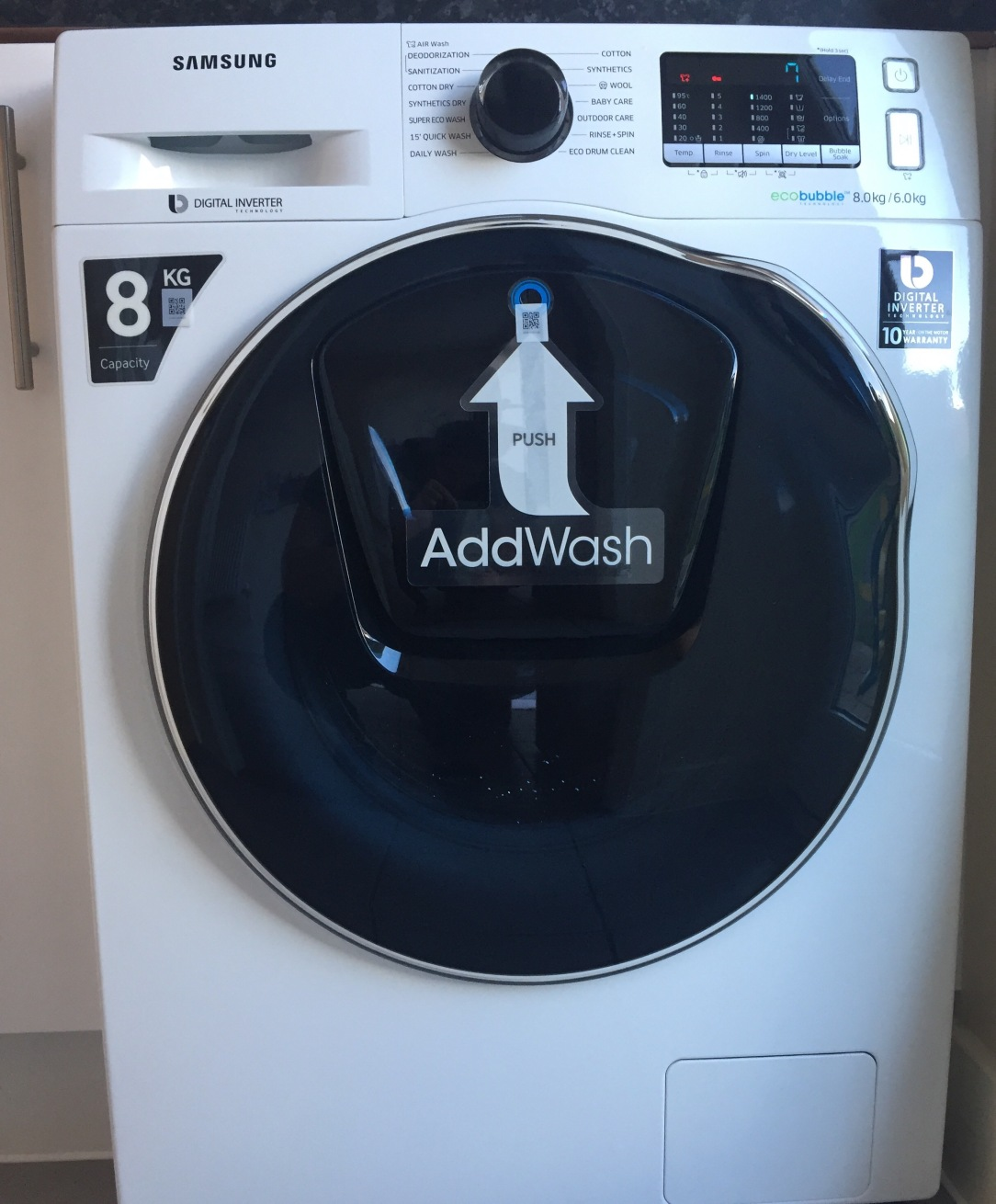 Samsung AddWash™ WD80K5410OW washer dryer