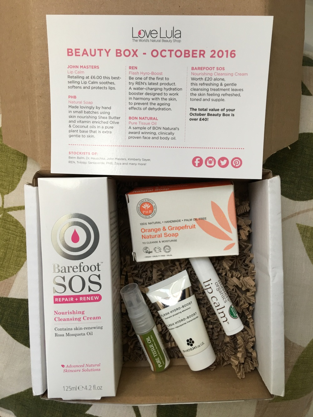 Lovelula beauty box October 2016
