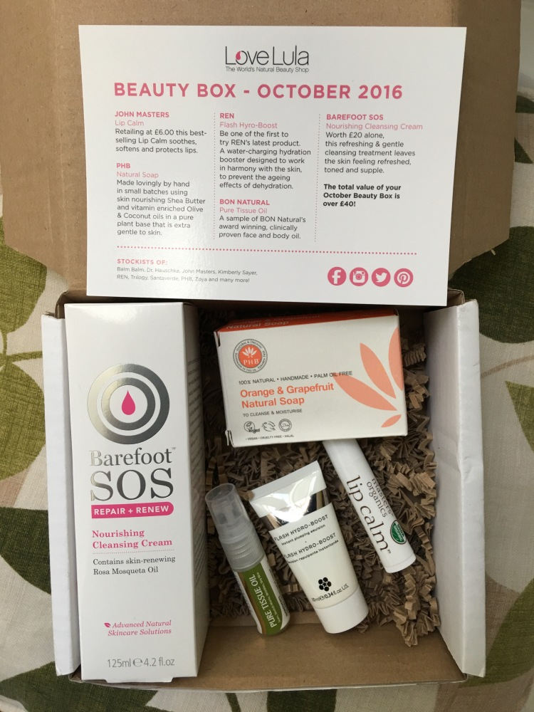 Lovelula beauty box October 2016