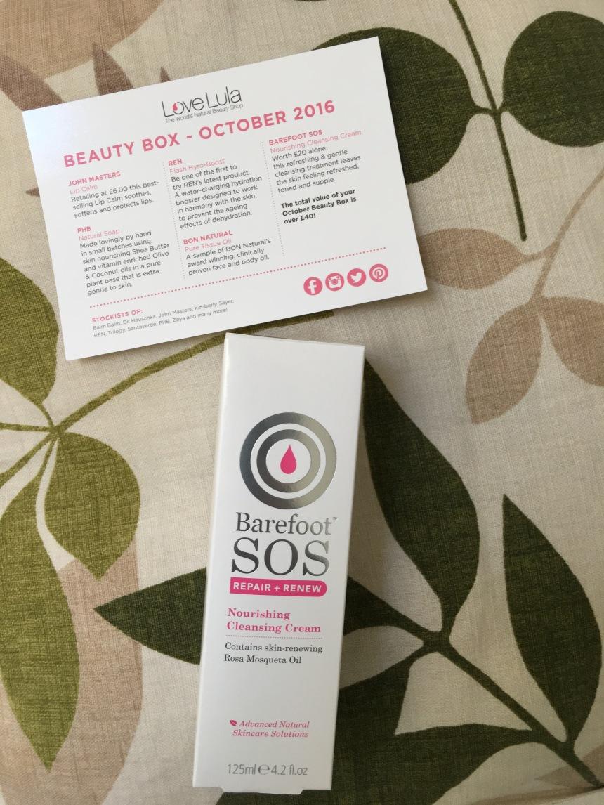 Barefoot SOS Nourishing Cleansing cream