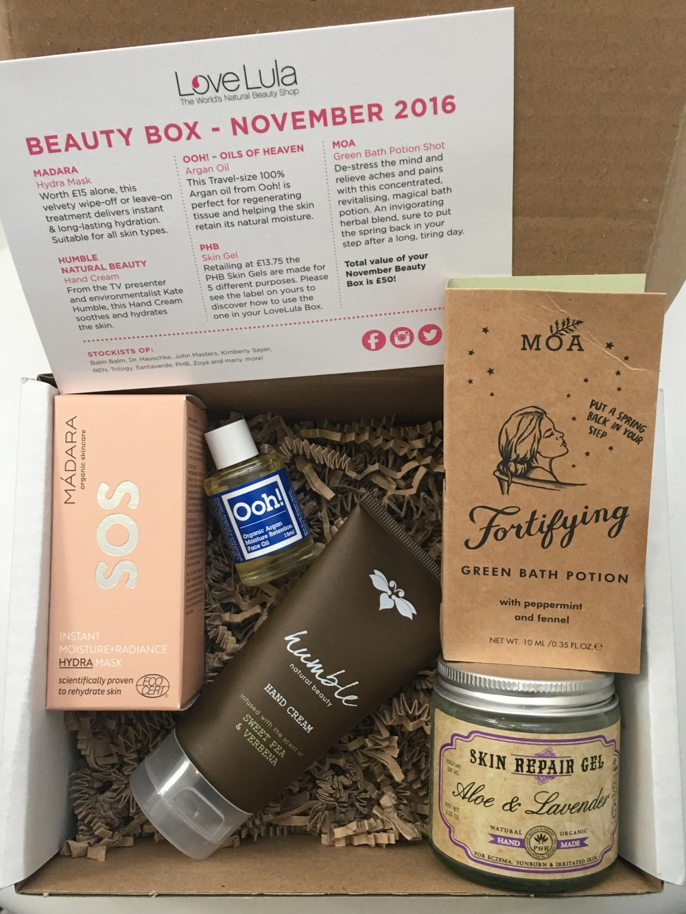 LoveLula Beauty Box November 2016