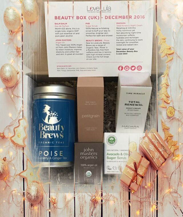 LoveLula beauty box December 2016