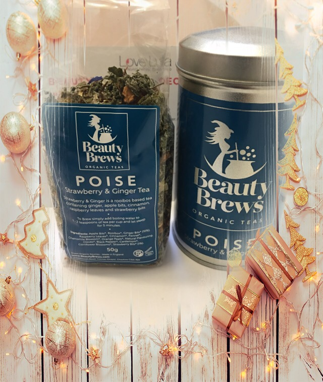 Beauty brews poise strawberry & ginger tea