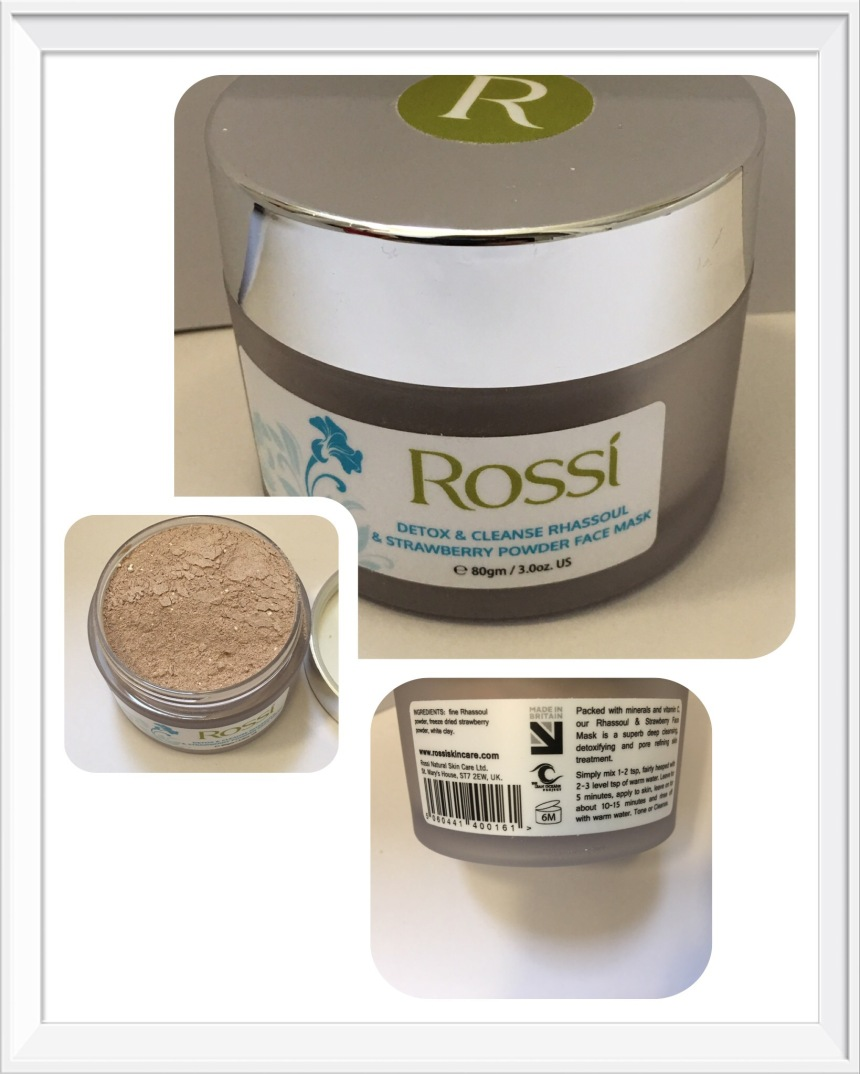 Rossi Uvema Rhassoul & Strawberry Powder Face Mask