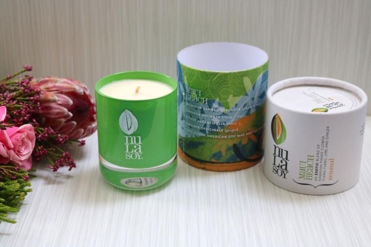 Nula Soy Aromatherapy Candle Maui Beach - Pistachio Crystal Glassware - Mezzo 110g