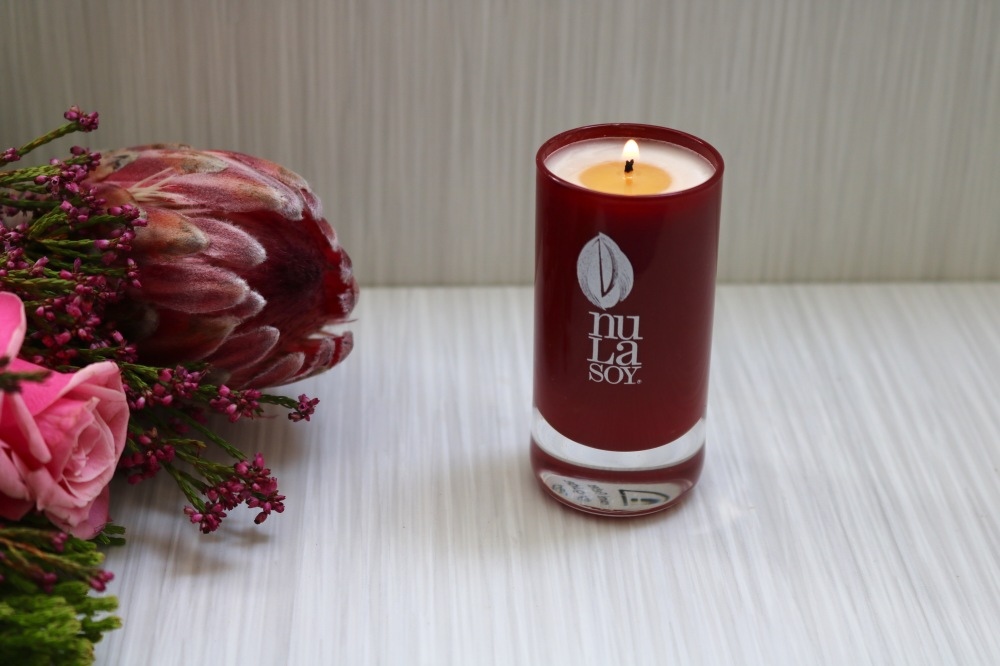 Nula Soy Aromatherapy Candle Las Pampas - Rouge Crystal Glassware - Piccolo 40g