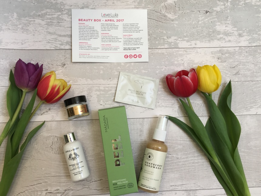 LoveLula Beauty box April 2017