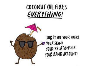 coconut oil fixes