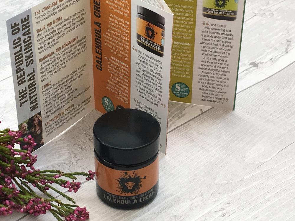 Lyonsleaf 100% natural calendula cream