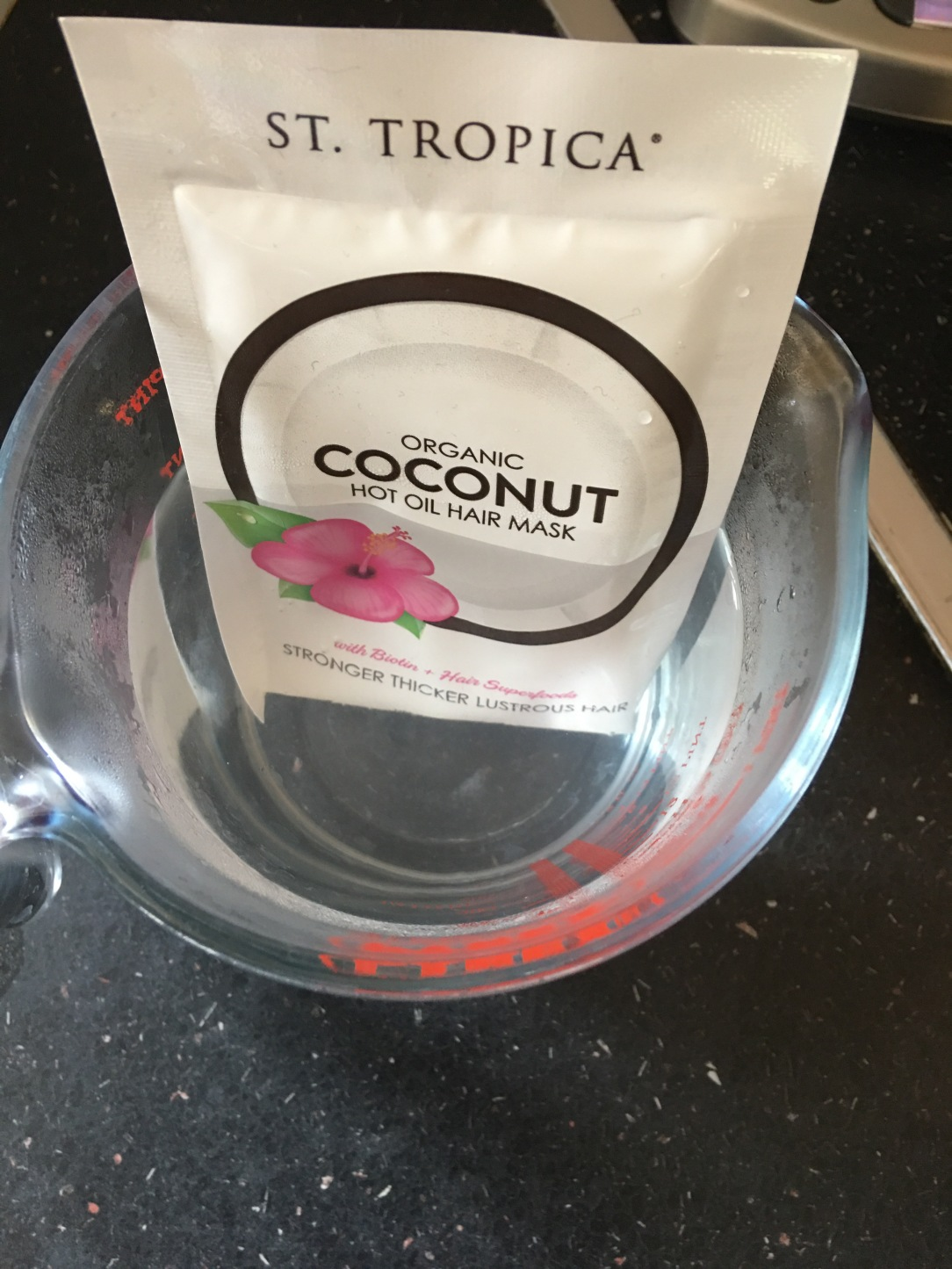 St Tropica organic coconut hot oil hair mask