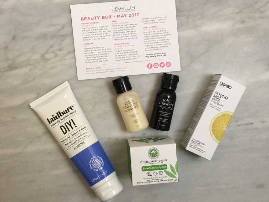 LoveLula beauty box May 2017