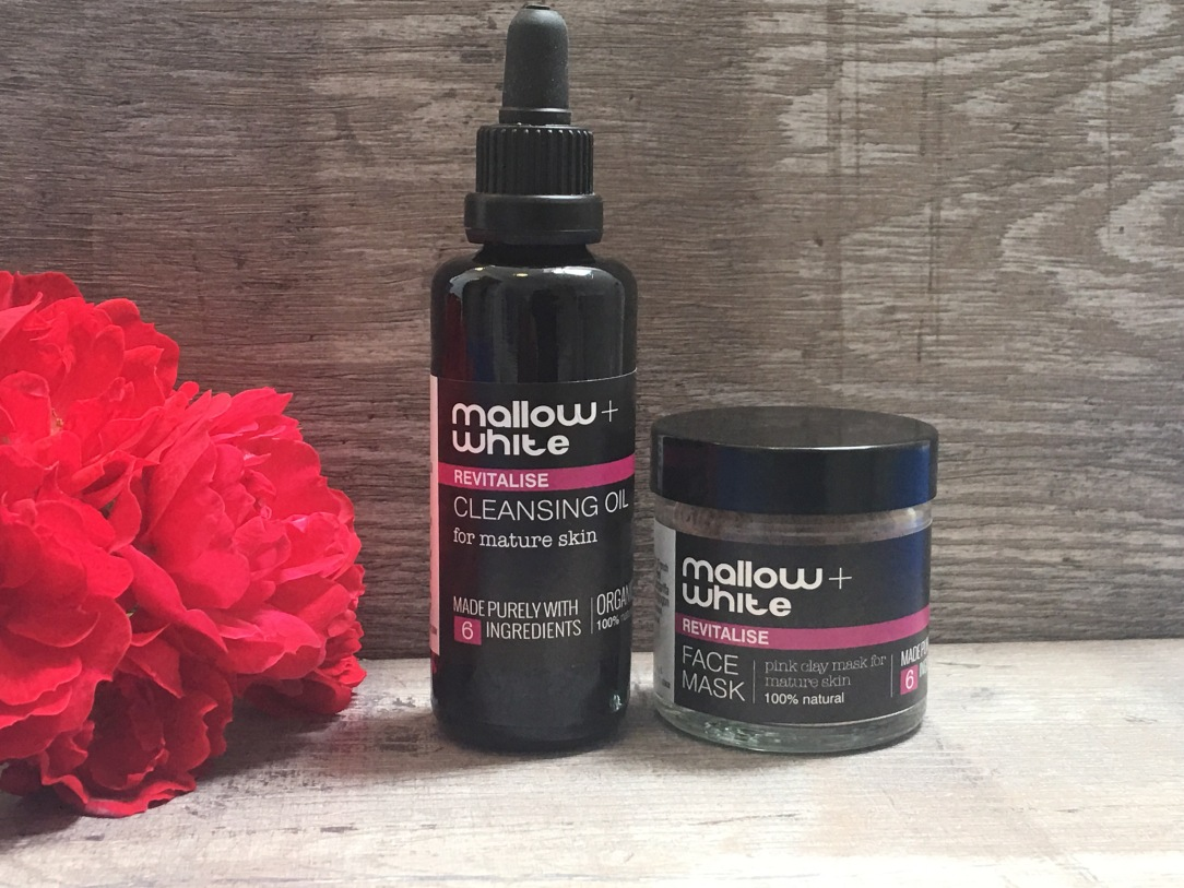 Mallow + White revitalise cleansing oil & face mask