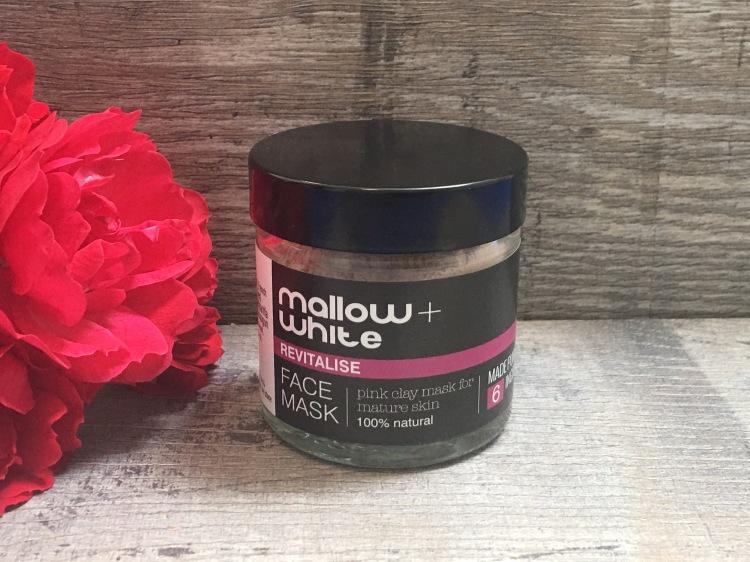 Mallow + White Revitalise face mask for mature skin