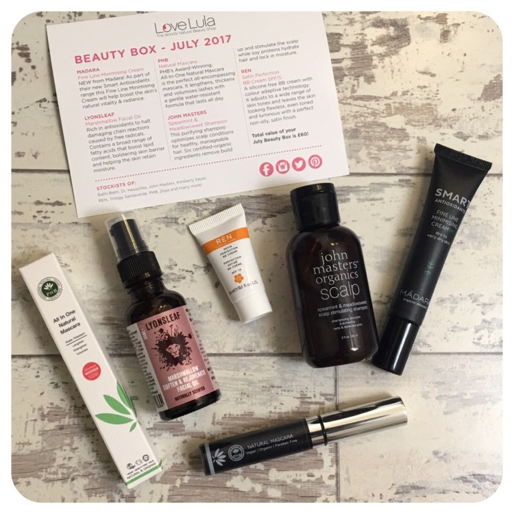 LoveLula beauty box July 2017