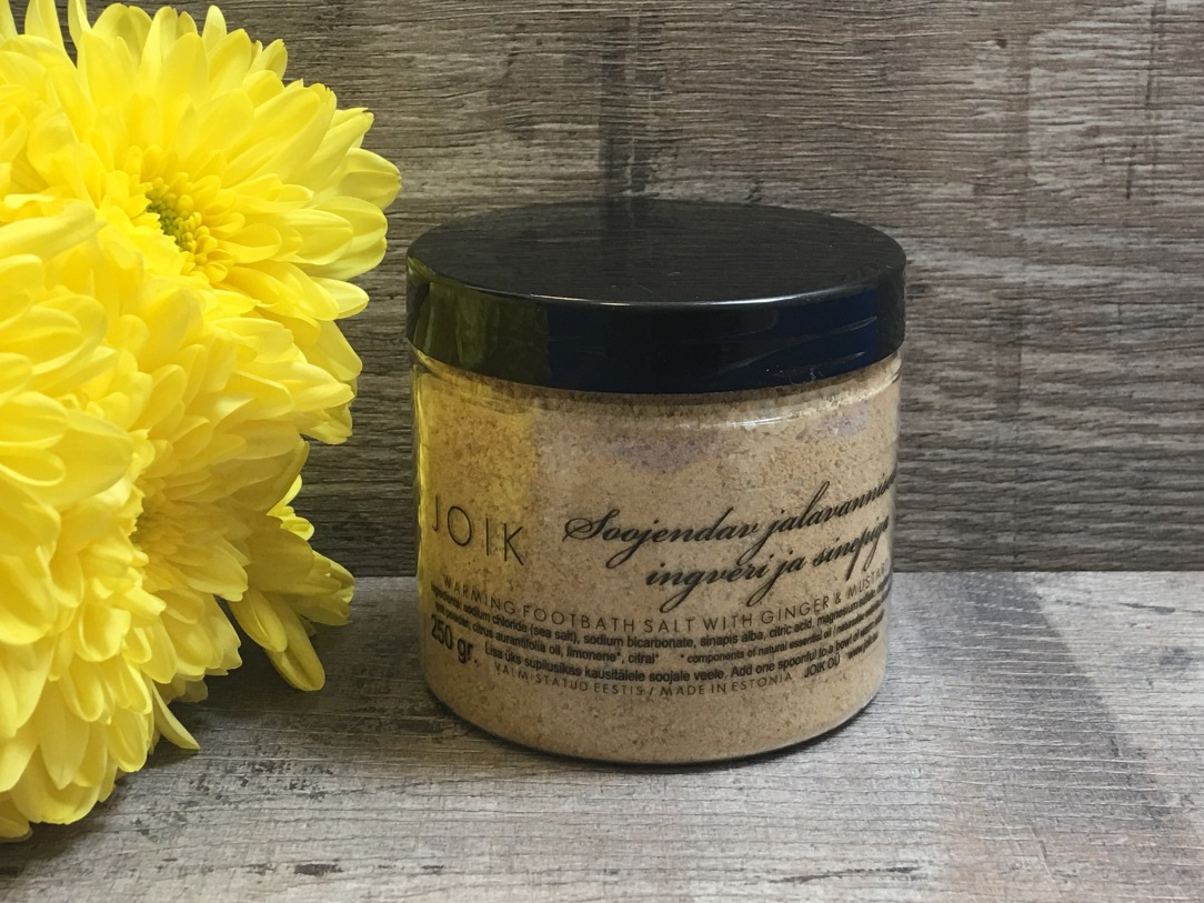 JOIK Warming foot bath salt with ginger & mustard
