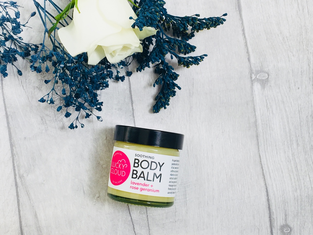 Lucky cloud soothing body balm lavender and rose geranium