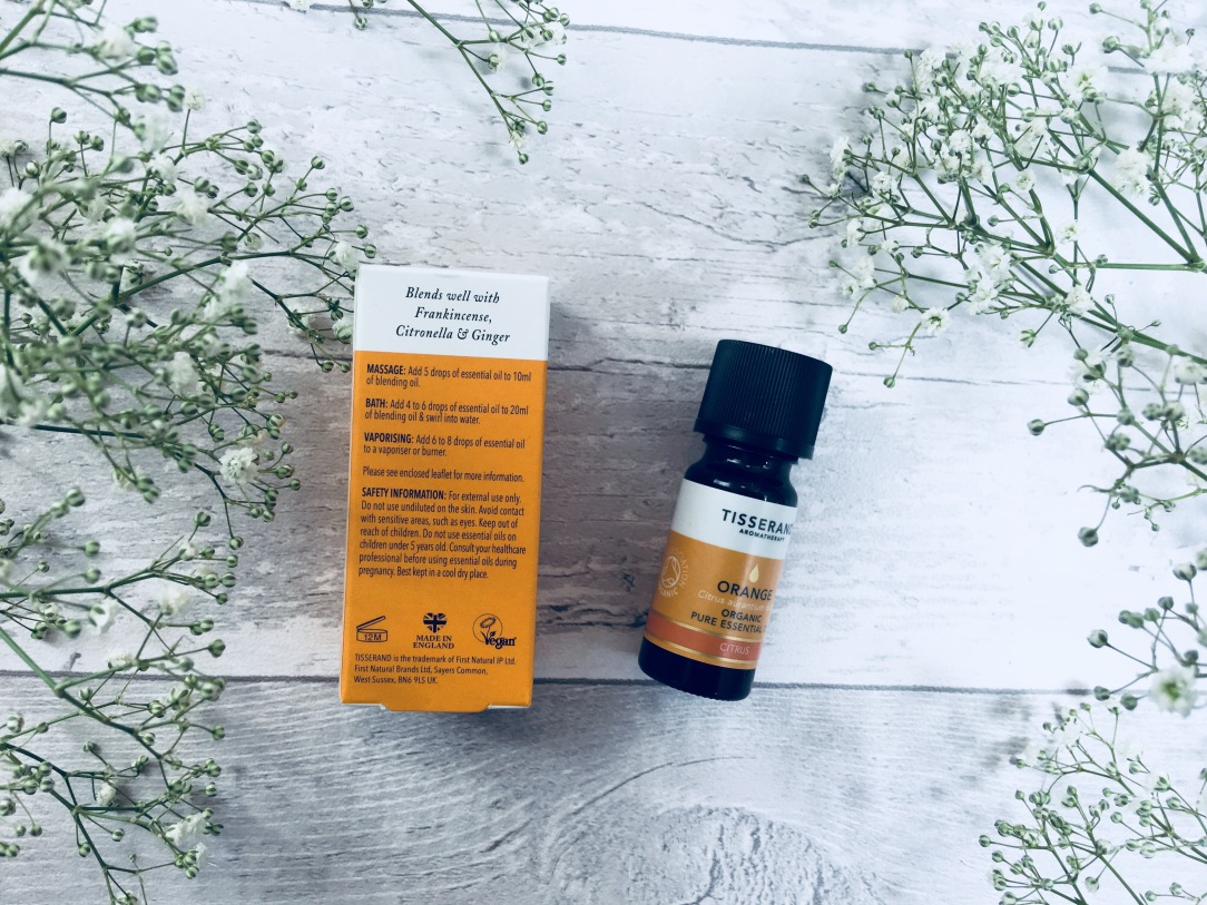Tisserand orange organic pure essential oil