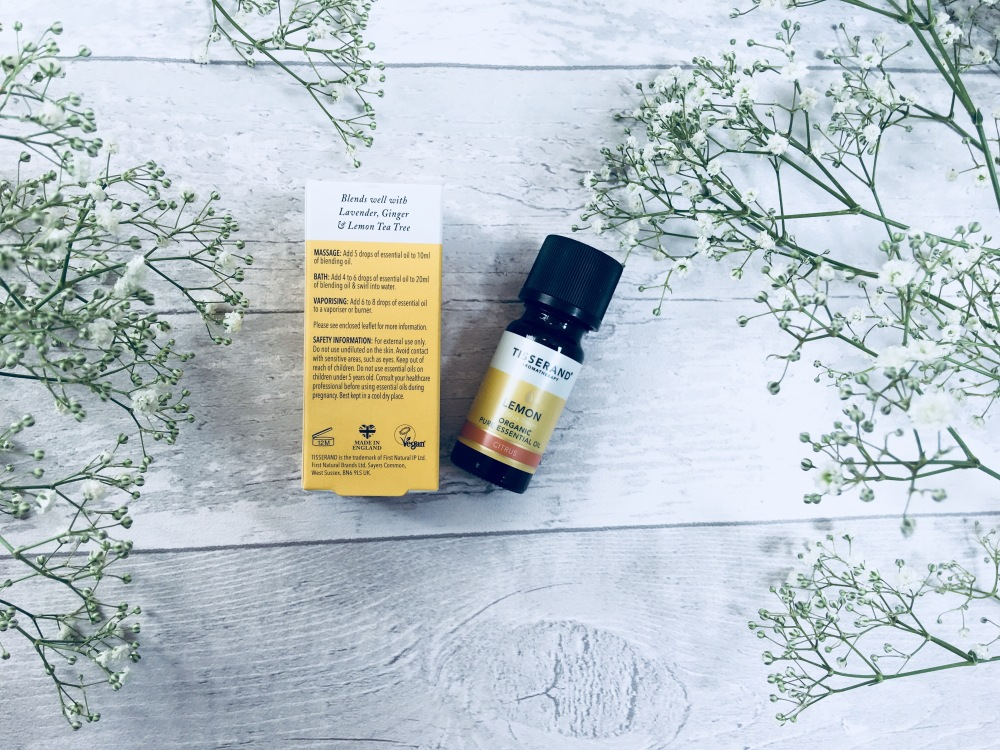 Tisserand lemon organic pure essential oil