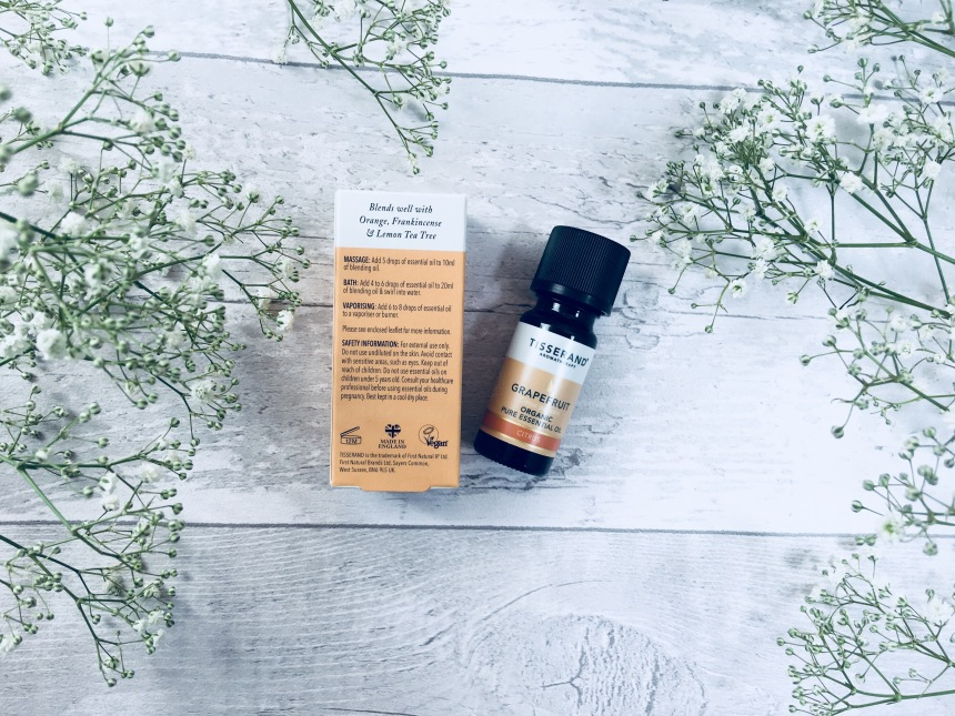Tisserand grapefruit organic pure essential oil