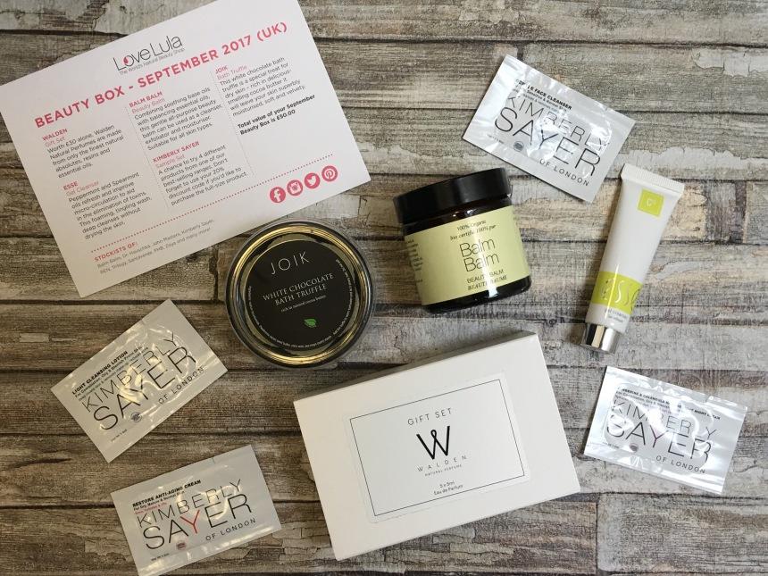 Lovelula beauty box september 2017