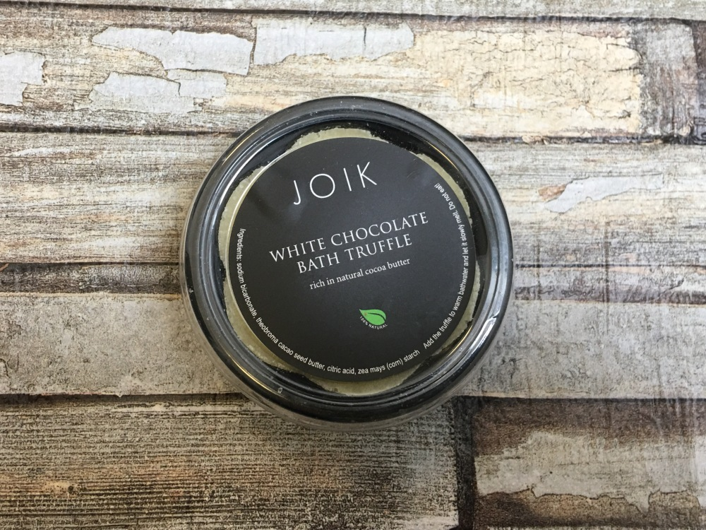 JOIK White chocolate bath truffle