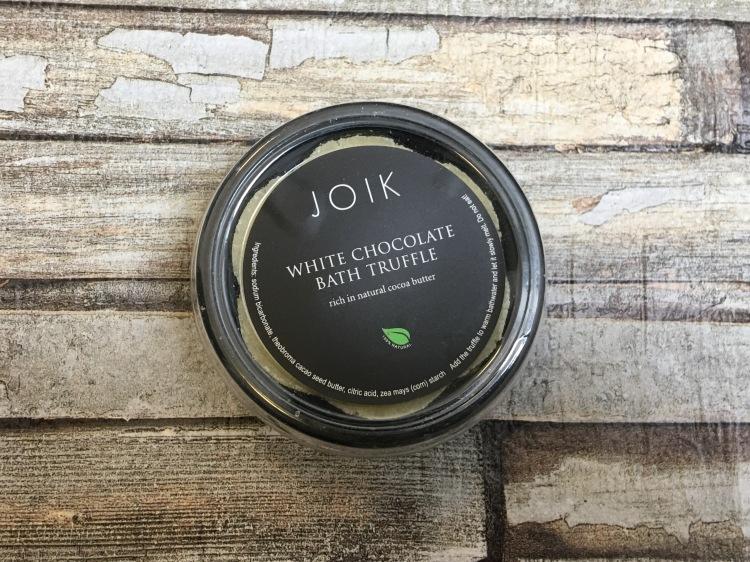 JOIK White chocolate bath truffle