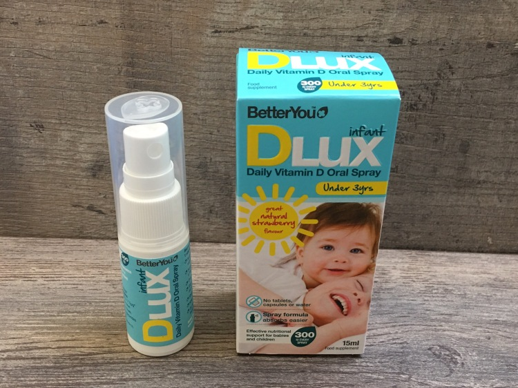 BetterYou Dlux infant daily vitamin d oral spray