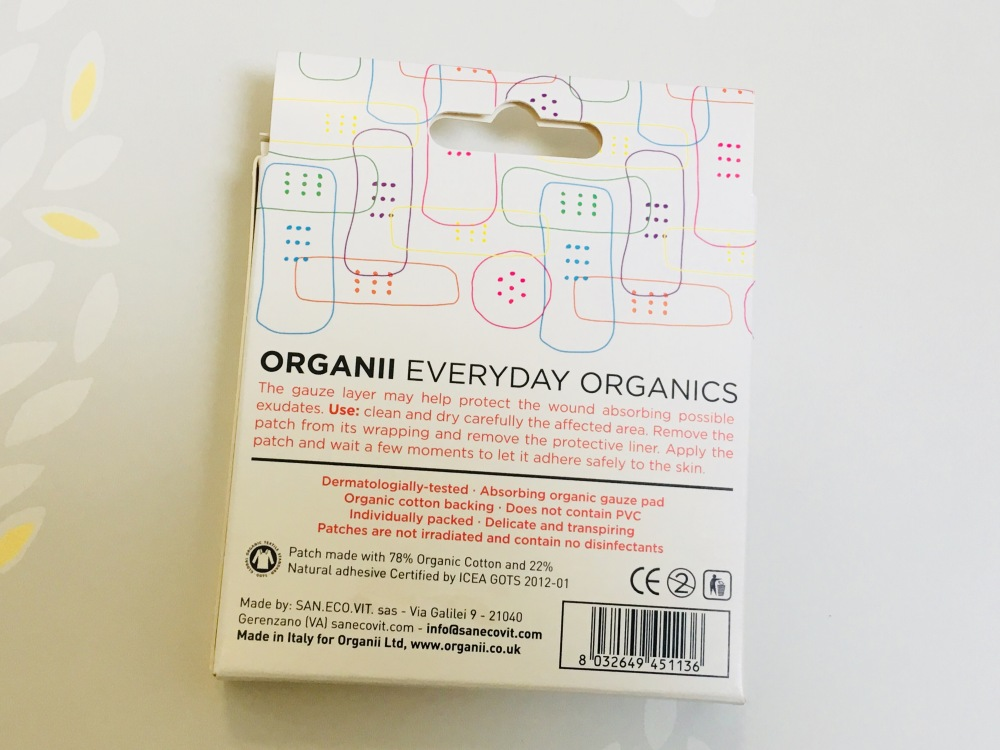 Organii organic cotton patches for kids