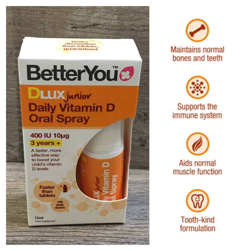 BetterYou DLux Junior Daily vitamin d oral spray