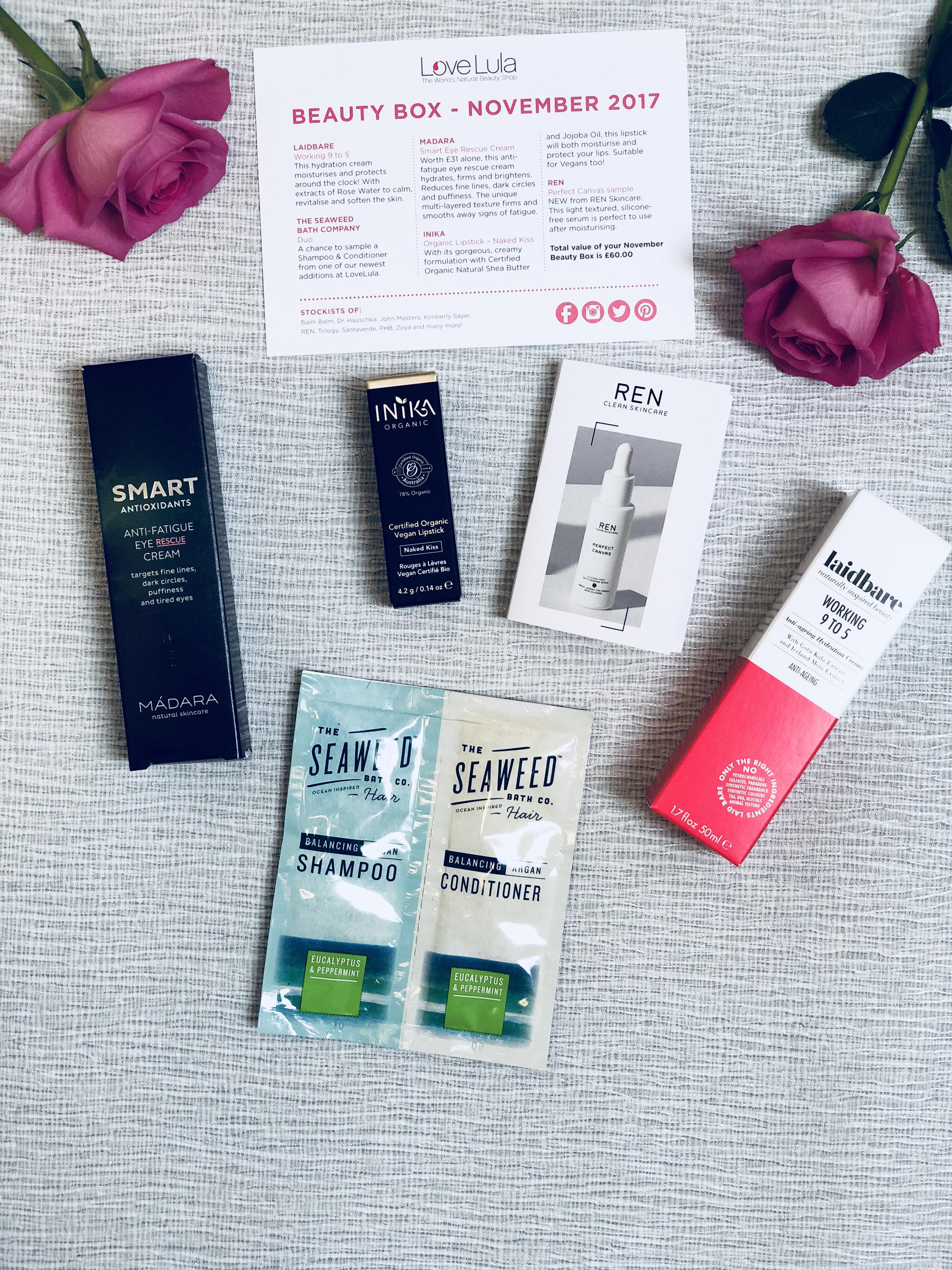 Lovelula beauty box November 2017