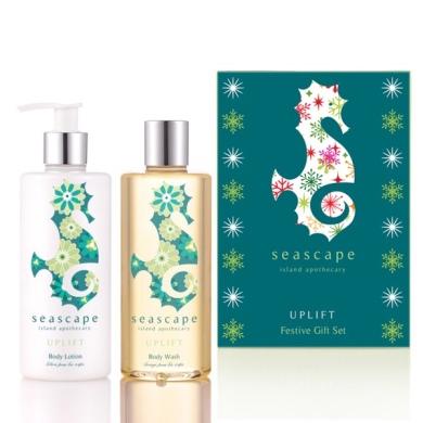Seascape Island Apothecary Uplift Festive Gift Set 2 X 300ml