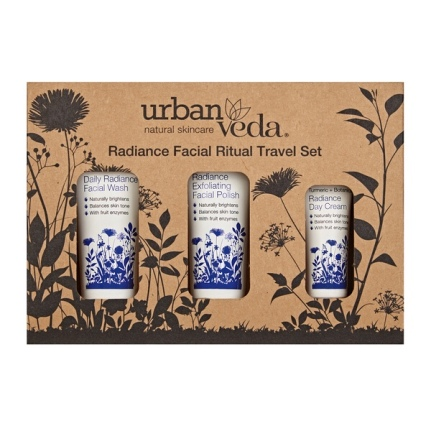 UrbanVeda Radiance Facial Ritual Travel Set