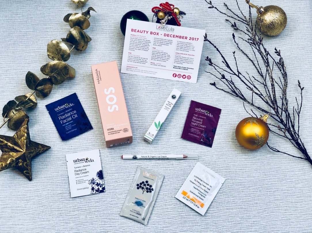 LoveLula beauty box December 2017