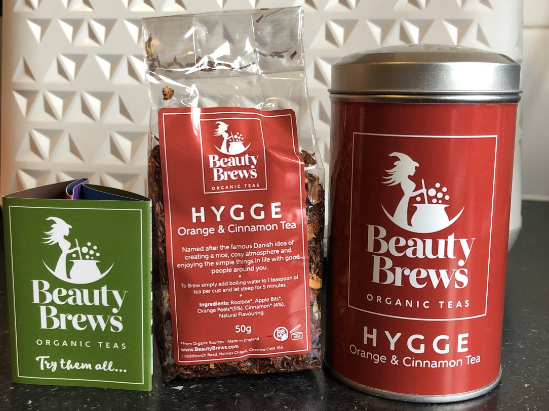 Beauty brews organic teas Hygge - orange & cinnamon tea
