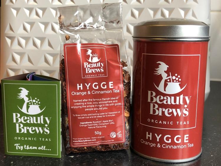 Beauty brews organic teas Hygge - orange & cinnamon tea