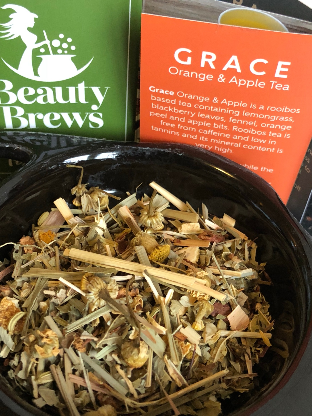 Beauty brews organic tea Grace - orange & apple tea