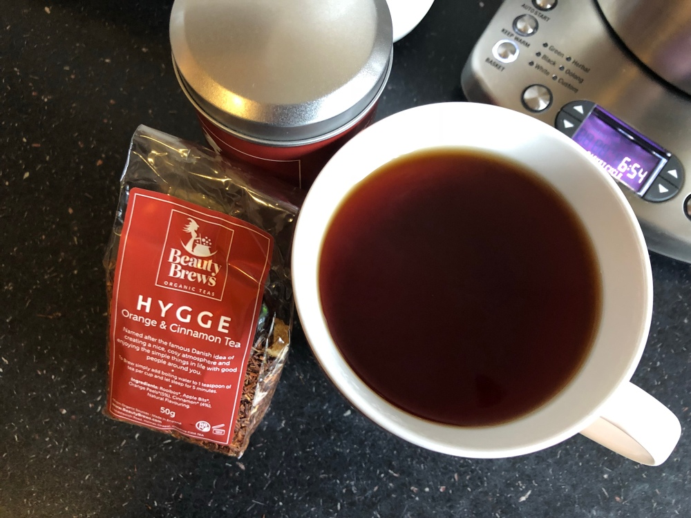 Beauty brews organic teas Hygge orange & cinnamon tea