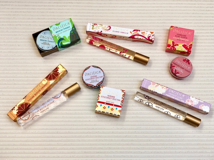 Pacifica roll-on perfume, solid perfume