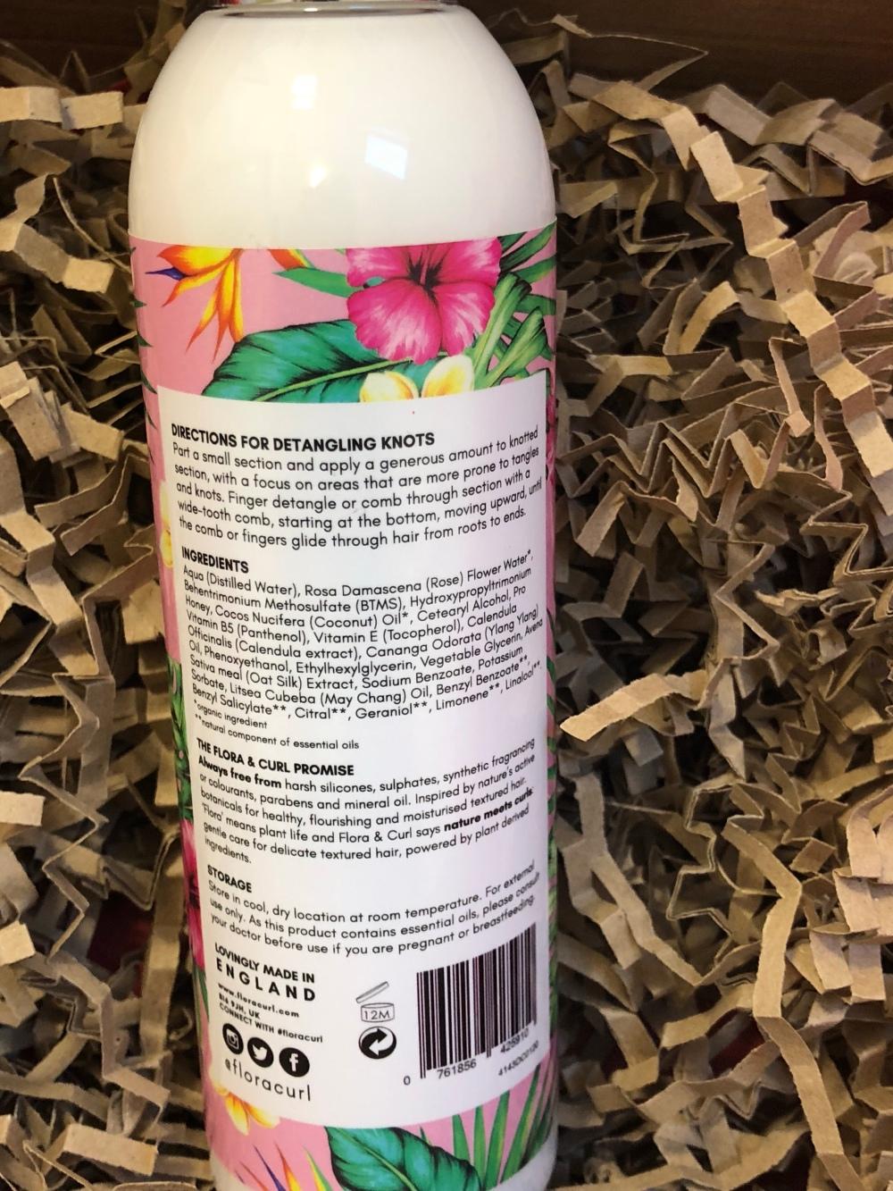 Flora & curl Organic rose & Honey Milk Leave-in detangler