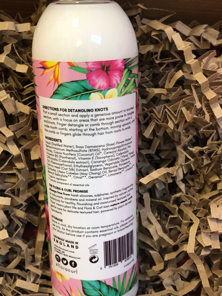 Flora & curl Organic rose & Honey Milk Leave-in detangler