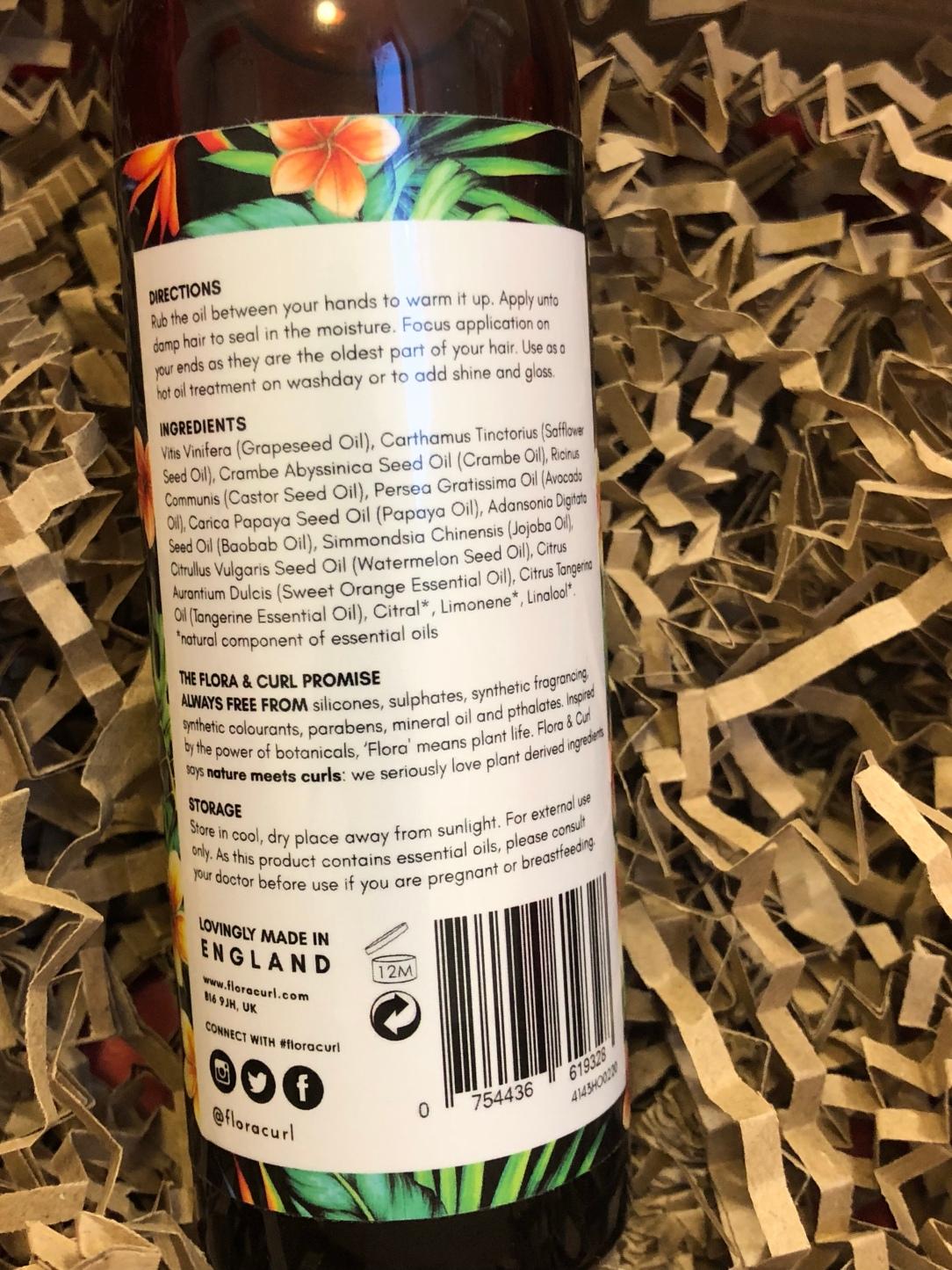 Flora & Curl African citrus bloom superfruit hair oil